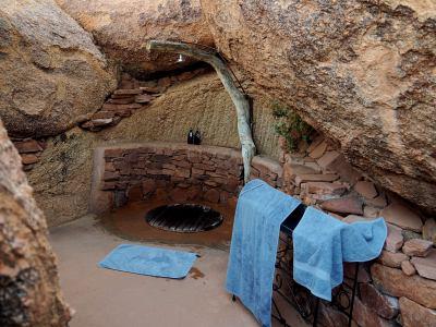 Nuestro baño en Camp Kipwe