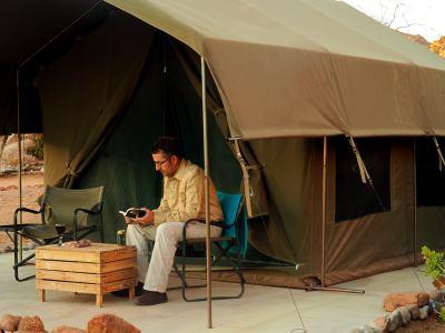 Xaquin en el campamento