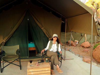 En mi tienda en Namibia
