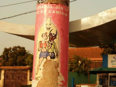 Anuncio publicitario en Bissau