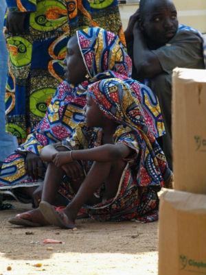 Dos niñas en Ngaounderé