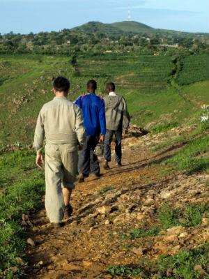 Pasando a los poblados de Nigeria