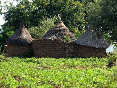 Poblado camino del norte en Camerún
