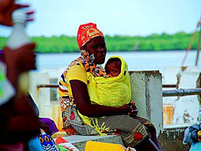 Una niña madre en Mozambique