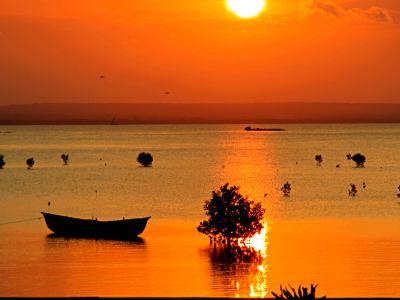 Atardecer en la isla de Ibo