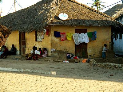 Una casa de la Isla de Mozambique