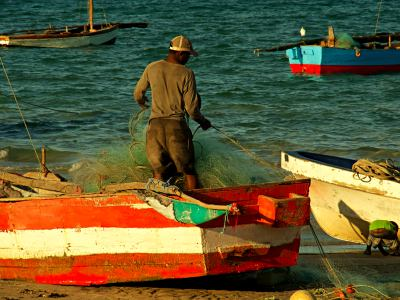 Un pescador en Vianculos