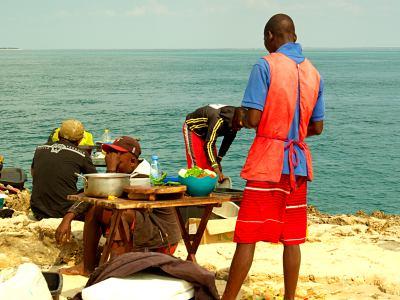 Comida en las islas de Bazaruto