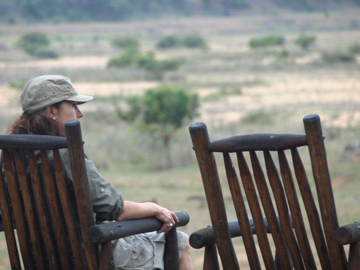 Observando la sabana en el Kruger al atardecer