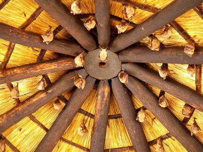 en el techo de uno de los campamentos