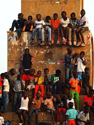 Niños en Bissau