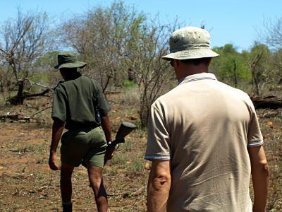 Ruta a pie con rangers por el Kruger
