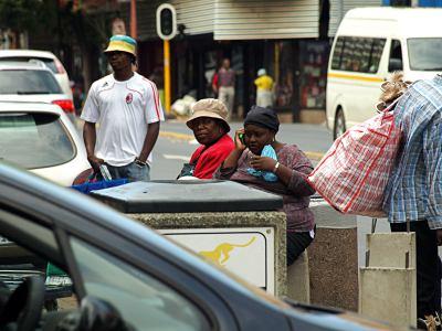 Una calle de Johannesburgo