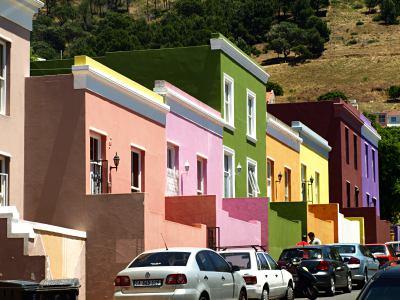Barrio de Bo-Kaap en Ciudad del Cabo