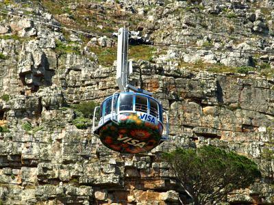 Funicular subiendo la montaña de la Table Mountain