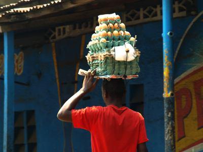 Vendedor en Kinshasa