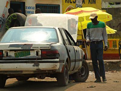 Unos taxis en Congo Brazavillle