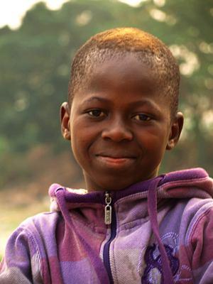 Un niño congoleño