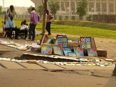 Una calle de Kinshasa
