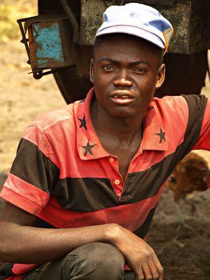 Un chico congoleño