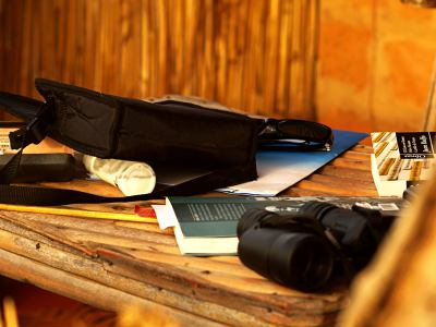 Mis cosas en el interior de una cabaña de Baloom
