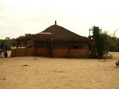 Una de las cabañas de la comunidad de Baloom