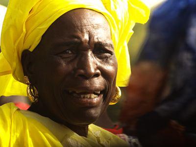 Una mujer senegalesa en Thies