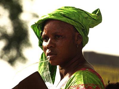 Una mujer en Thies Senegal