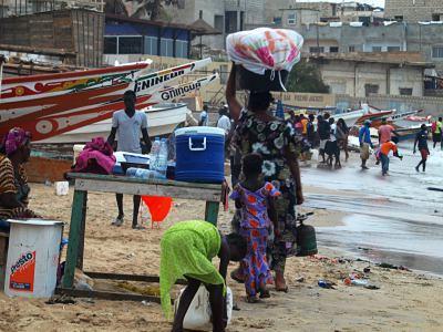 La playa desde la Cabaña de pescadores en Dakar