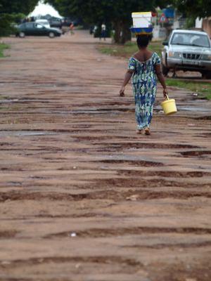 Una calle de Bissau