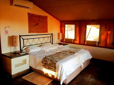 Nuestra cabaña en la entrada del Desierto de Namib
