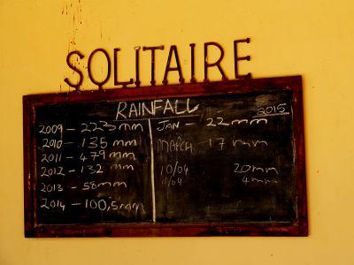 Gasolinera el Solitaire donde no llueve nunca