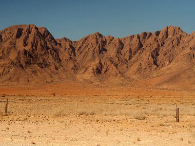 La entrada al Desierto de Namib