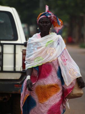 Una mujer en Bafata