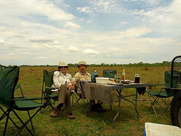 Picnic en la sabana de Botswana