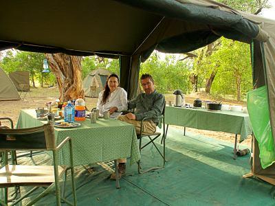 Nuestro campamento en Moremo