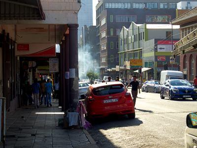 Una de las calles de Johanesburgo