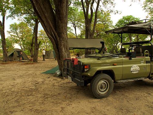 Nuestro primer campamento en Moremi Game Reserve