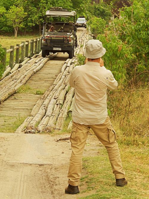 Haciendo un safari camino del campamento