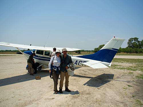 Avioneta para cruzar el Delta del Okavango