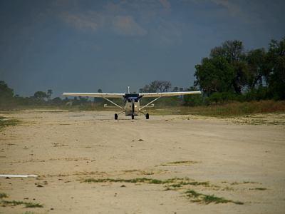 Nuestra avioneta para ir a Chobe