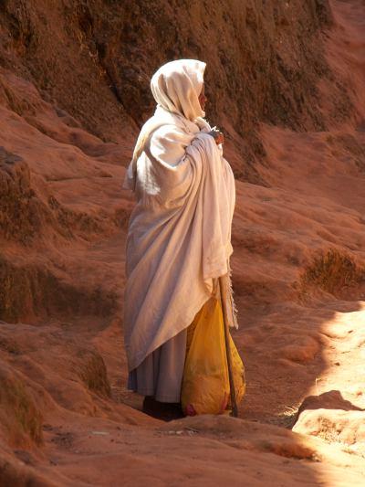Una mujer en Lalibela