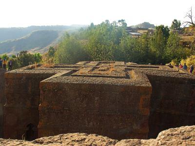 Una de las fabulosas iglesias de Lalibela