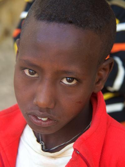 Un niño de la misión del Aba