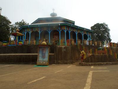 Una iglesia ortodoxa en el Monte Entoto