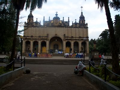 La Catedral de Addis Abeba de la Santísima Trinidad