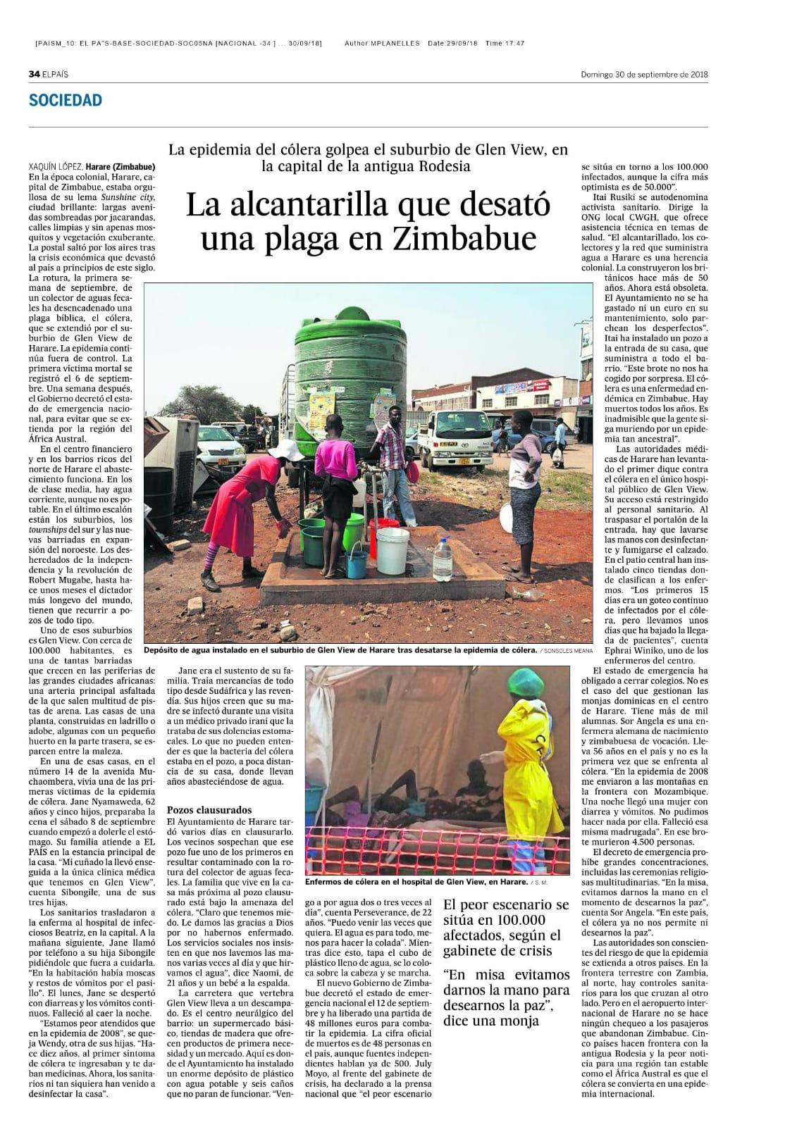 Reportaje de El País