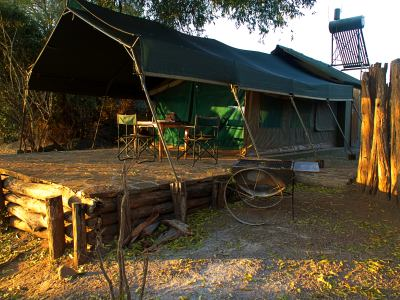 Nuestra tienda de campaña en Gonarezhou National Park