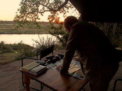 Decidiendo la ruta en Viajando por Zimbabue