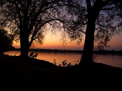 Atardecer en el río Zambeze